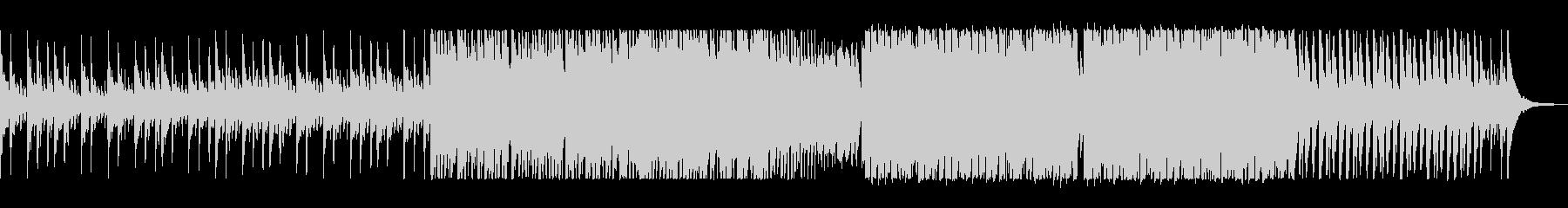 アップテンポの前向きな電子ピアノの曲の未再生の波形