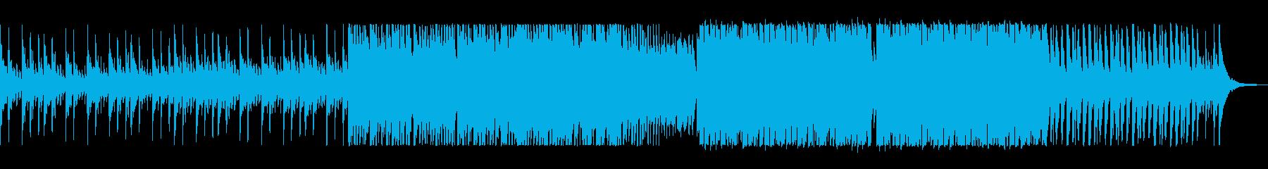 アップテンポの前向きな電子ピアノの曲の再生済みの波形