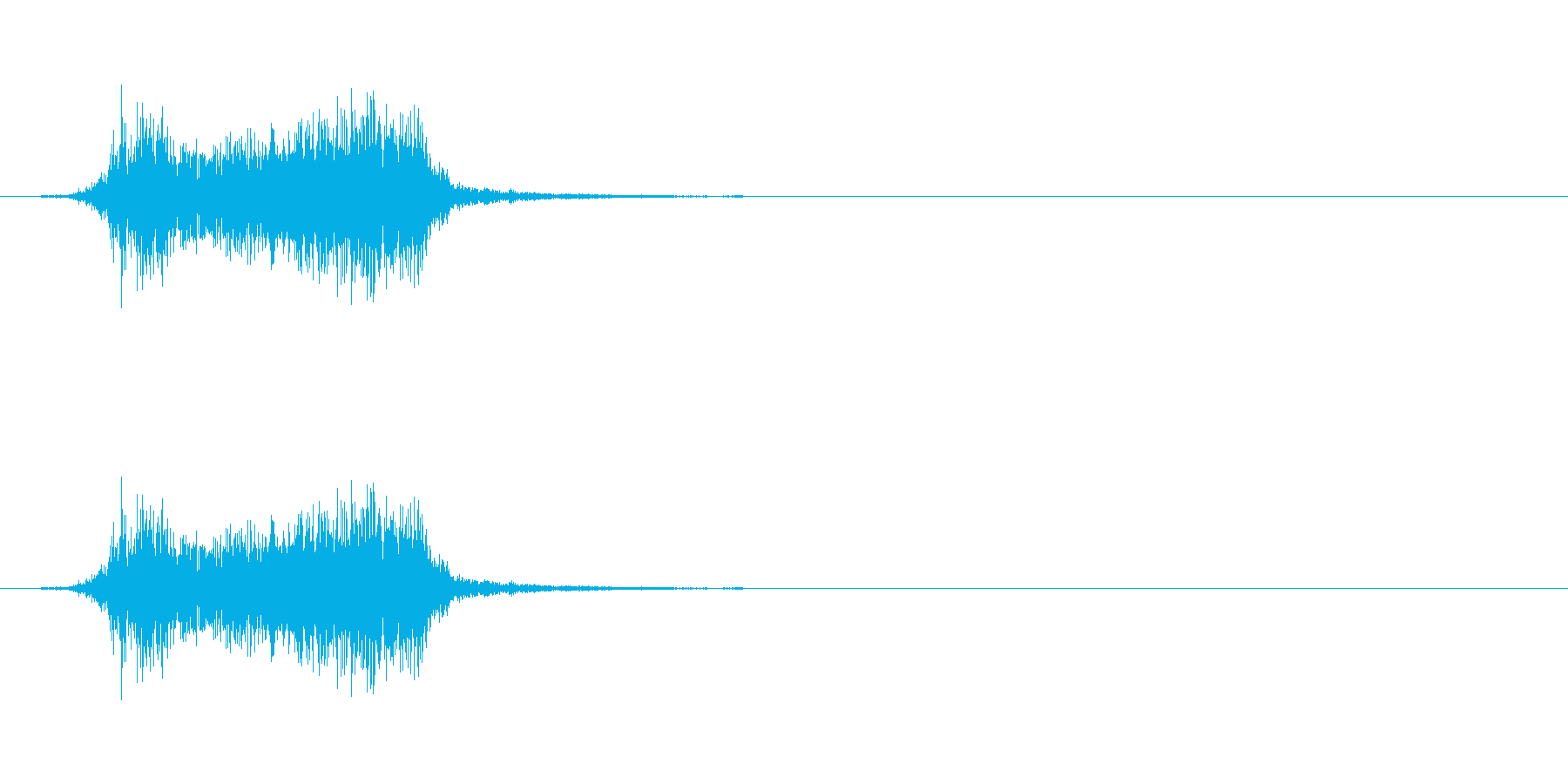 「ビリビリ」紙を破く音。の再生済みの波形
