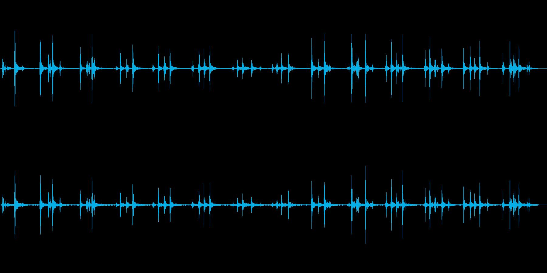 パカラッ(馬の足音)長めの再生済みの波形