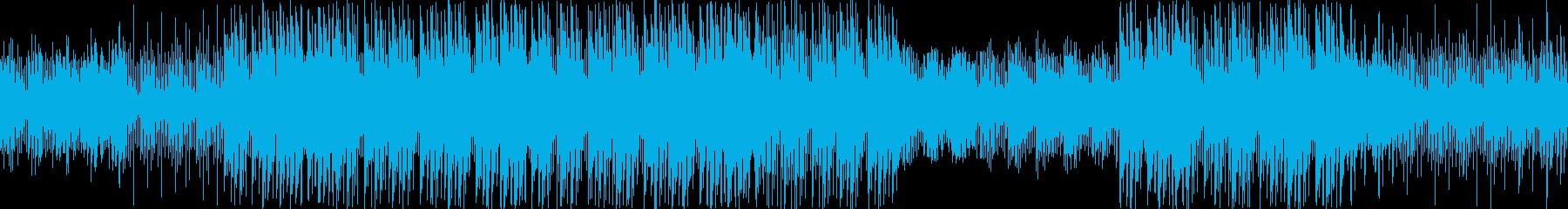 不思議な感じで浮遊感のあるテクノポップの再生済みの波形