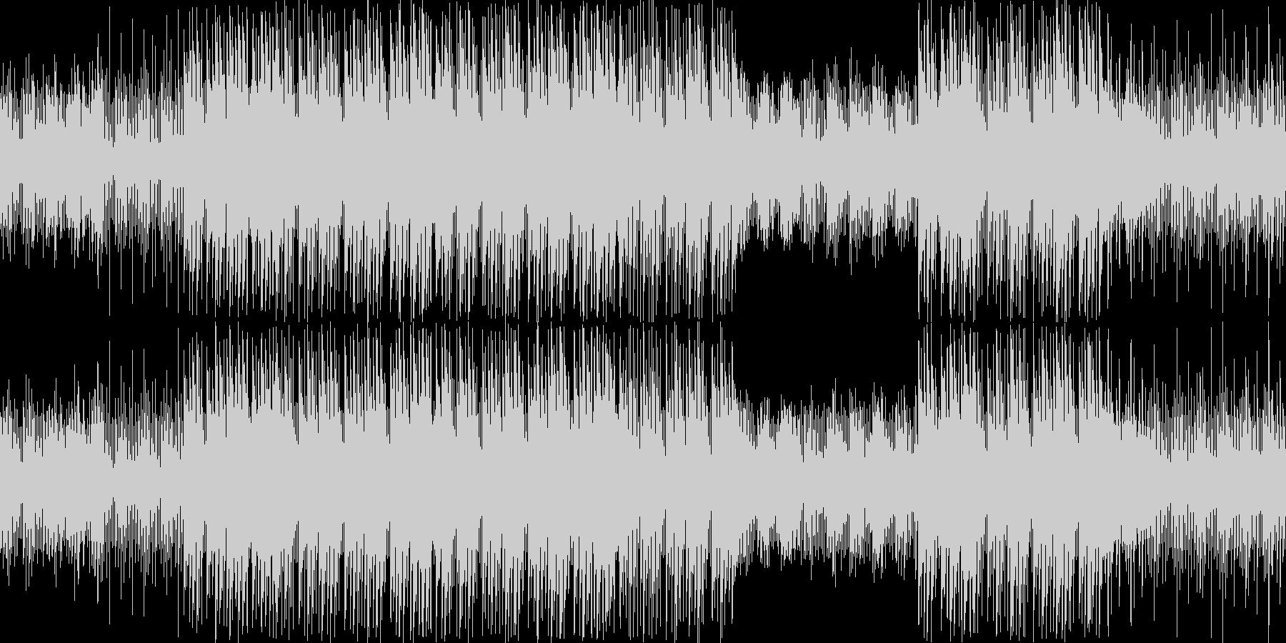 不思議な感じで浮遊感のあるテクノポップの未再生の波形