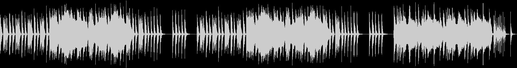 オーボエのコミカルな曲の未再生の波形