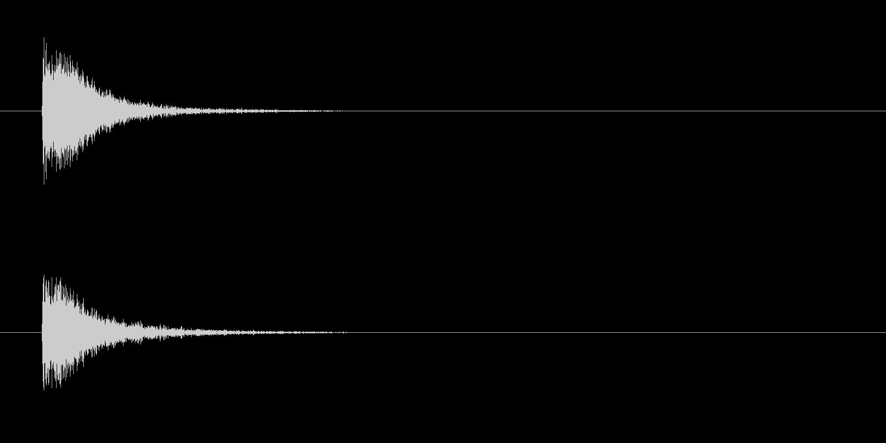 S.E.ジングルの未再生の波形