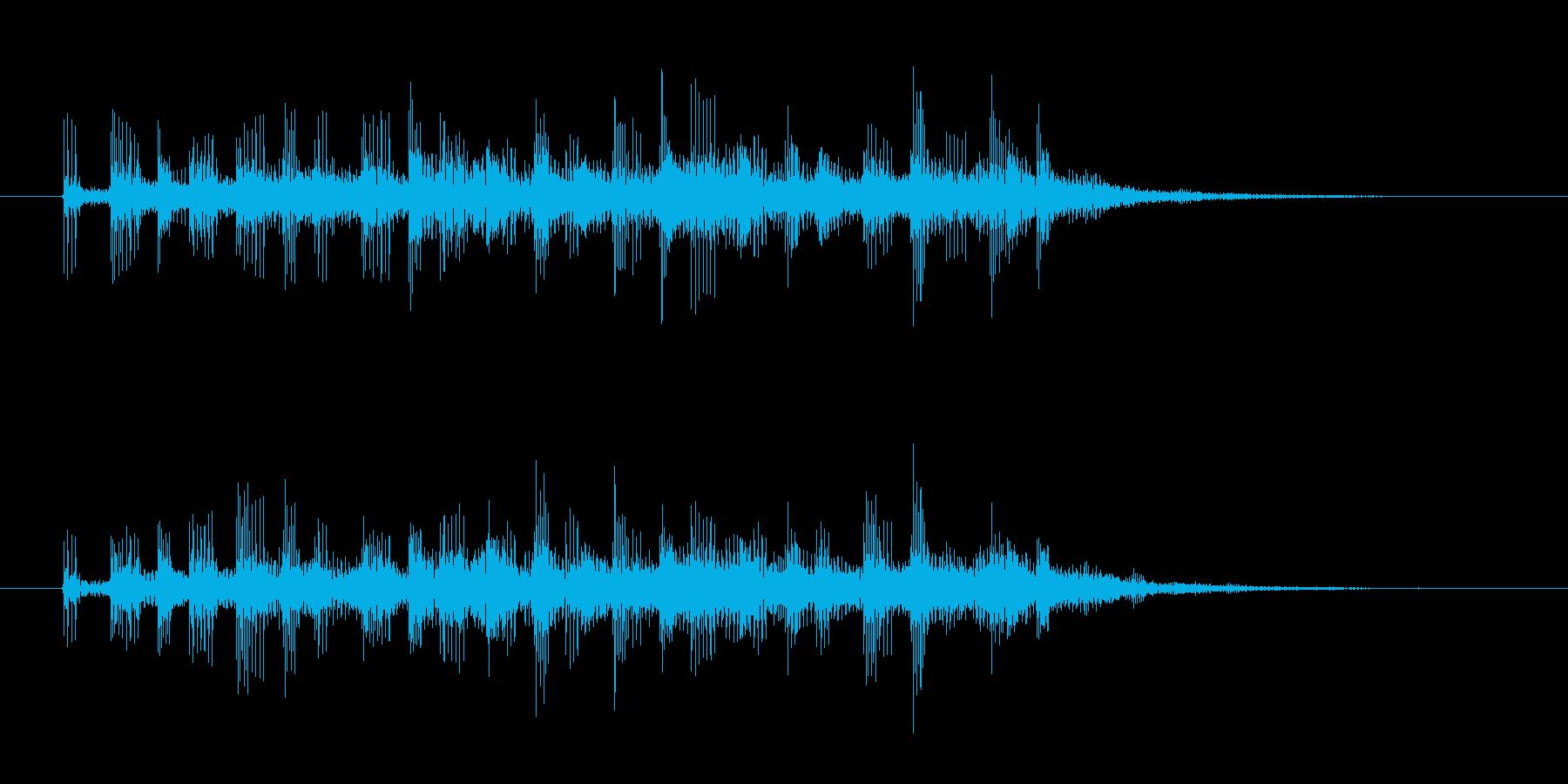 ホラーやダークなサウンドロゴ系の再生済みの波形