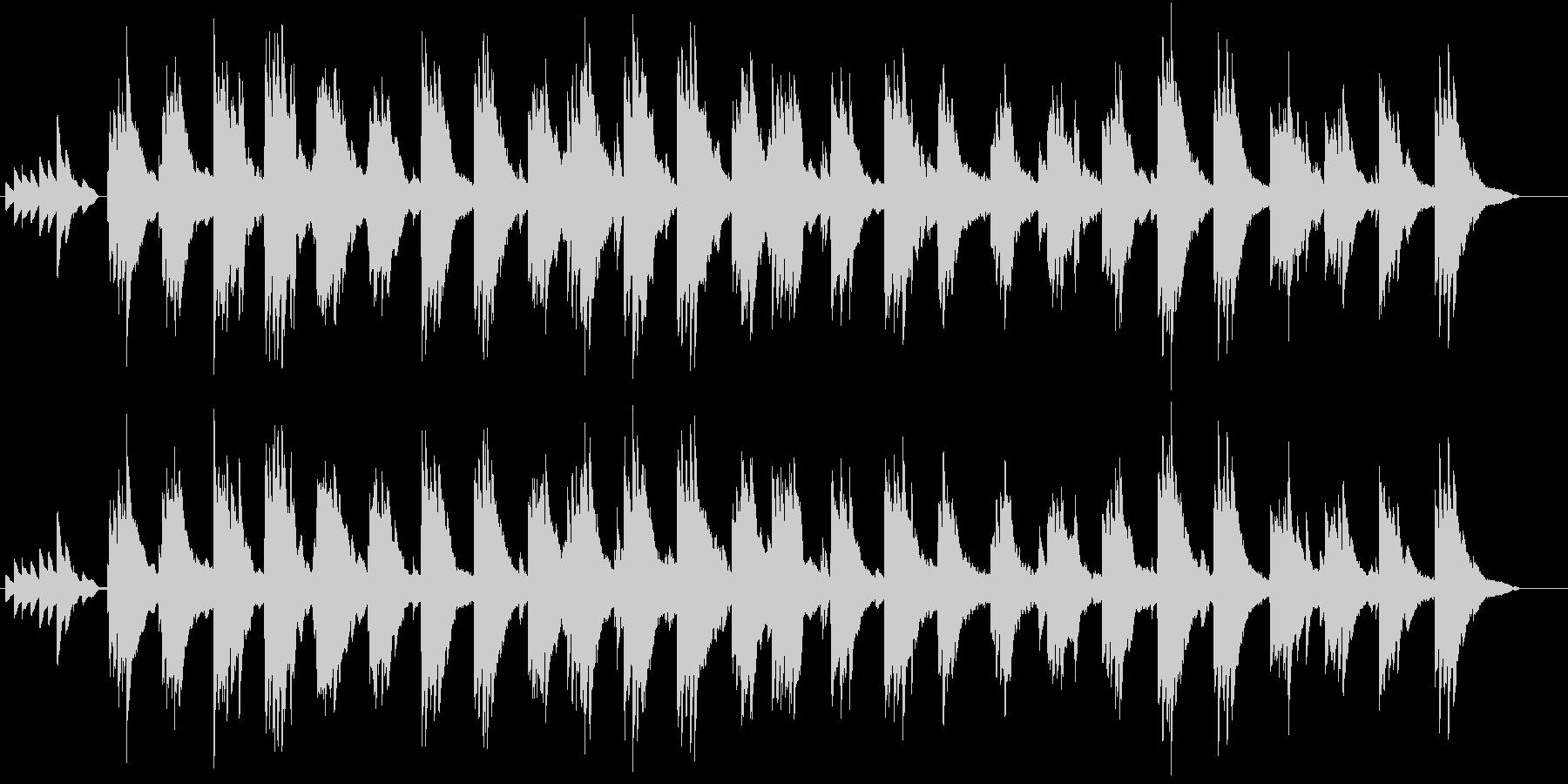 孤独感のあるピアノ曲の未再生の波形