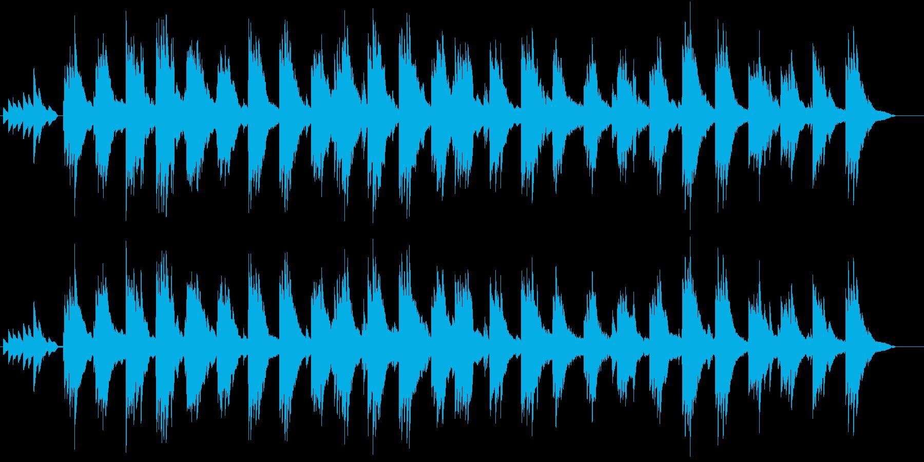 孤独感のあるピアノ曲の再生済みの波形