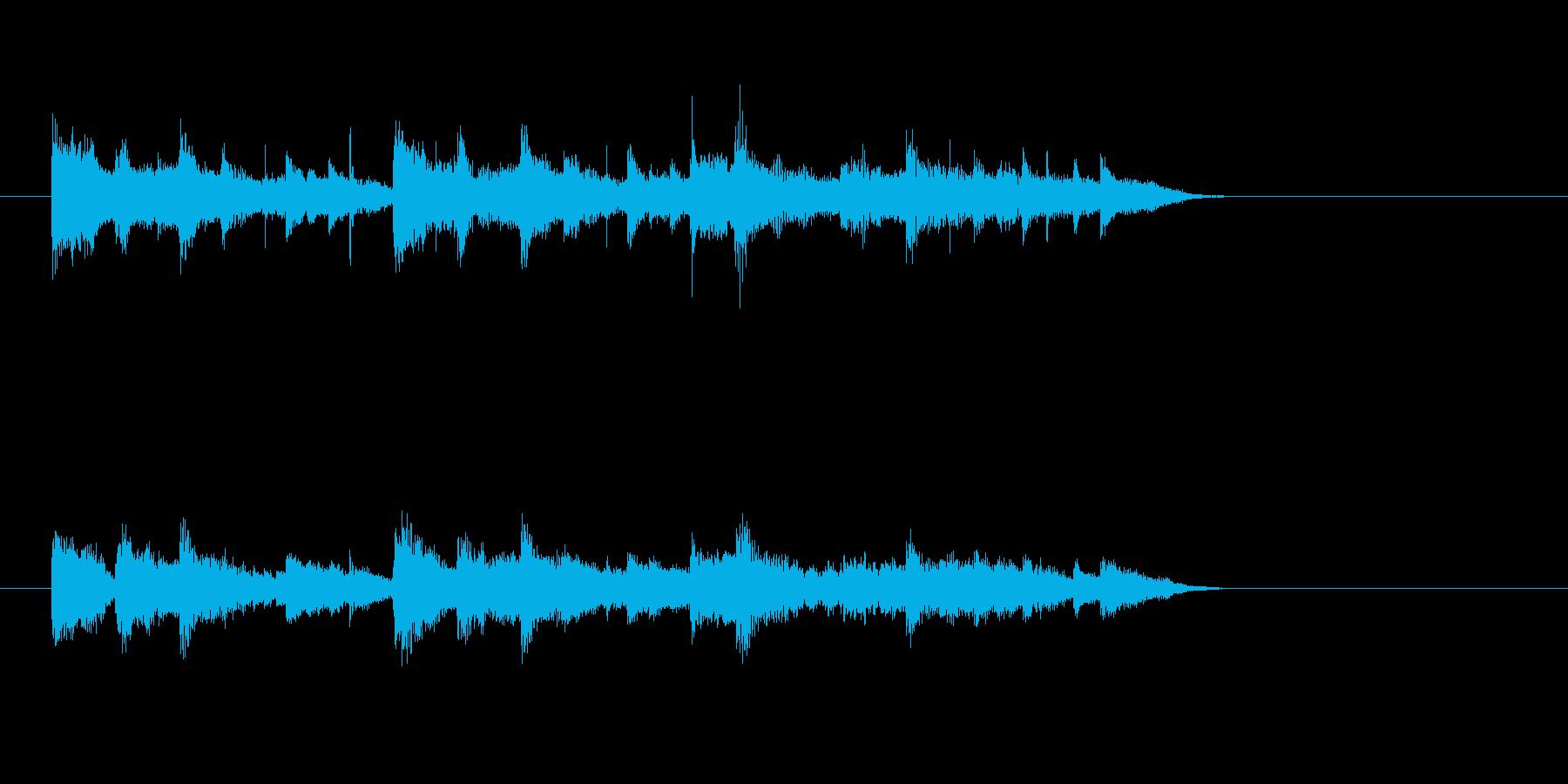 大人 シンセサイザー 落ち着きの再生済みの波形