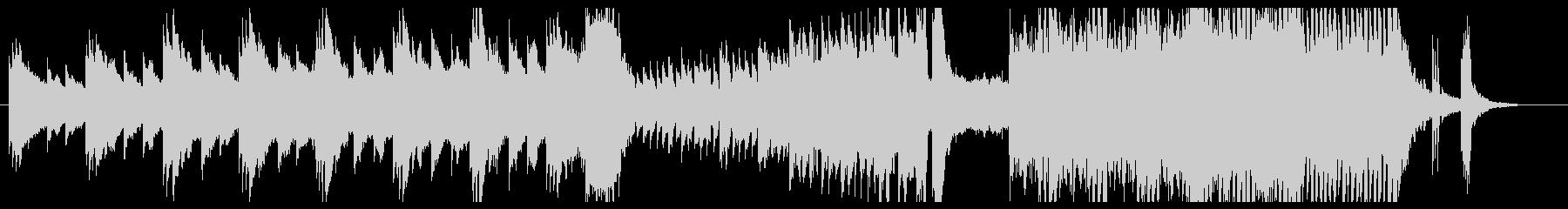 不安感を煽るホラーピアノ即興曲の未再生の波形