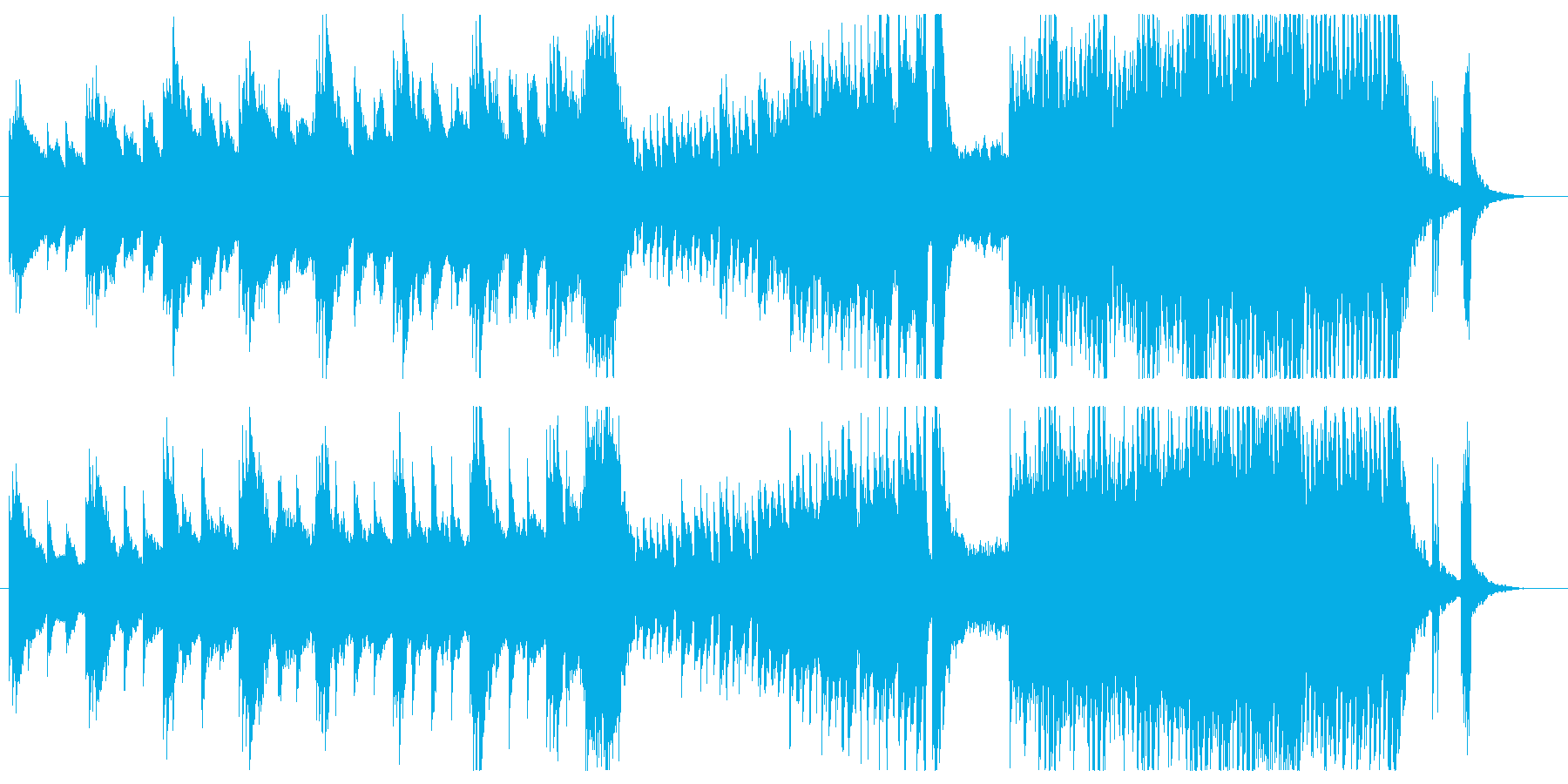 不安感を煽るホラーピアノ即興曲の再生済みの波形