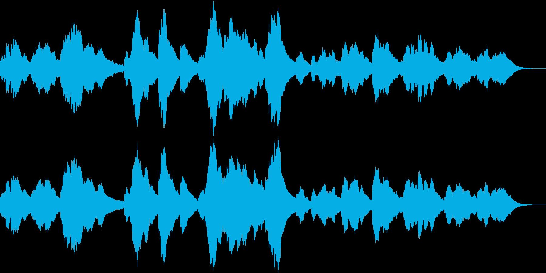 夜のイメージのシンセサイザー音楽ですの再生済みの波形