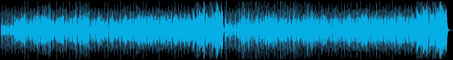 おもちゃの楽器を使ったBGM、愉快楽しいの再生済みの波形