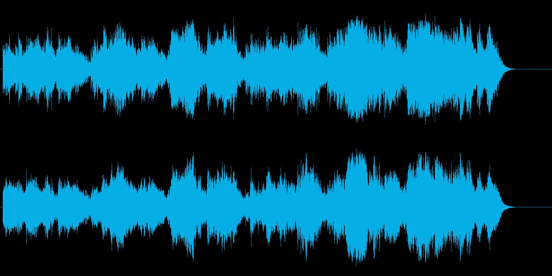 哀愁のマイナーアコースティックバラードの再生済みの波形