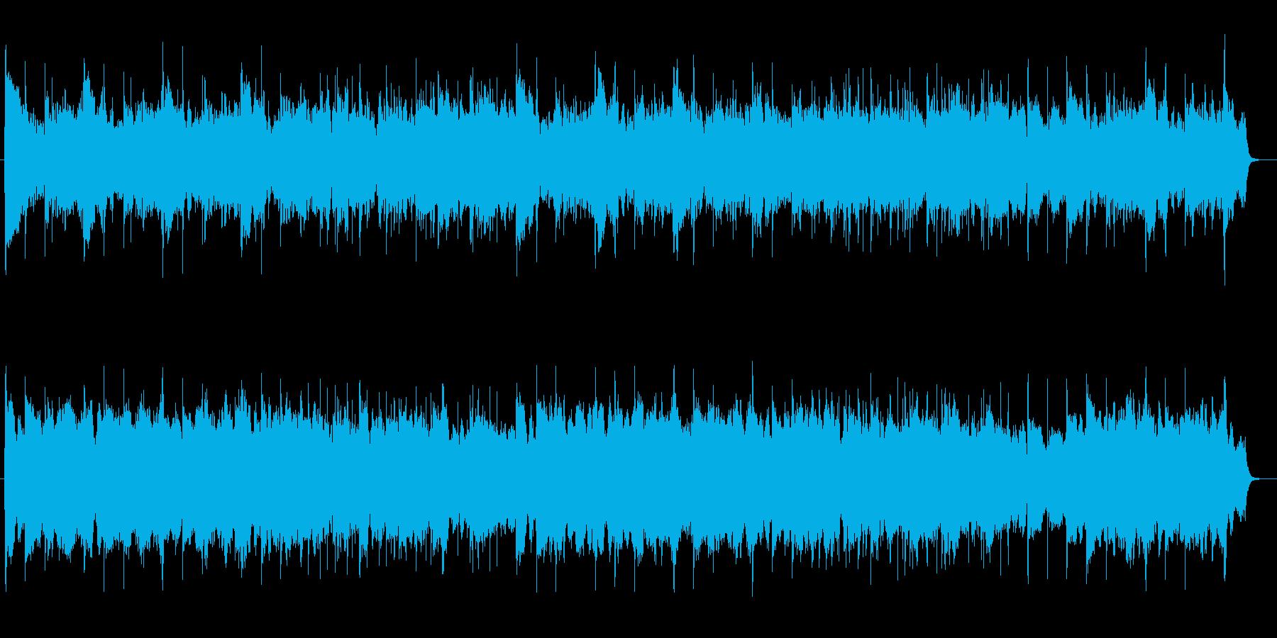 ゆったり神秘的なバイオリンシンセサウンドの再生済みの波形