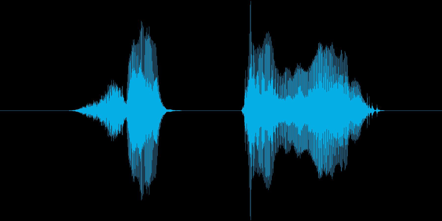 失敗〜(しっぱい〜)の再生済みの波形
