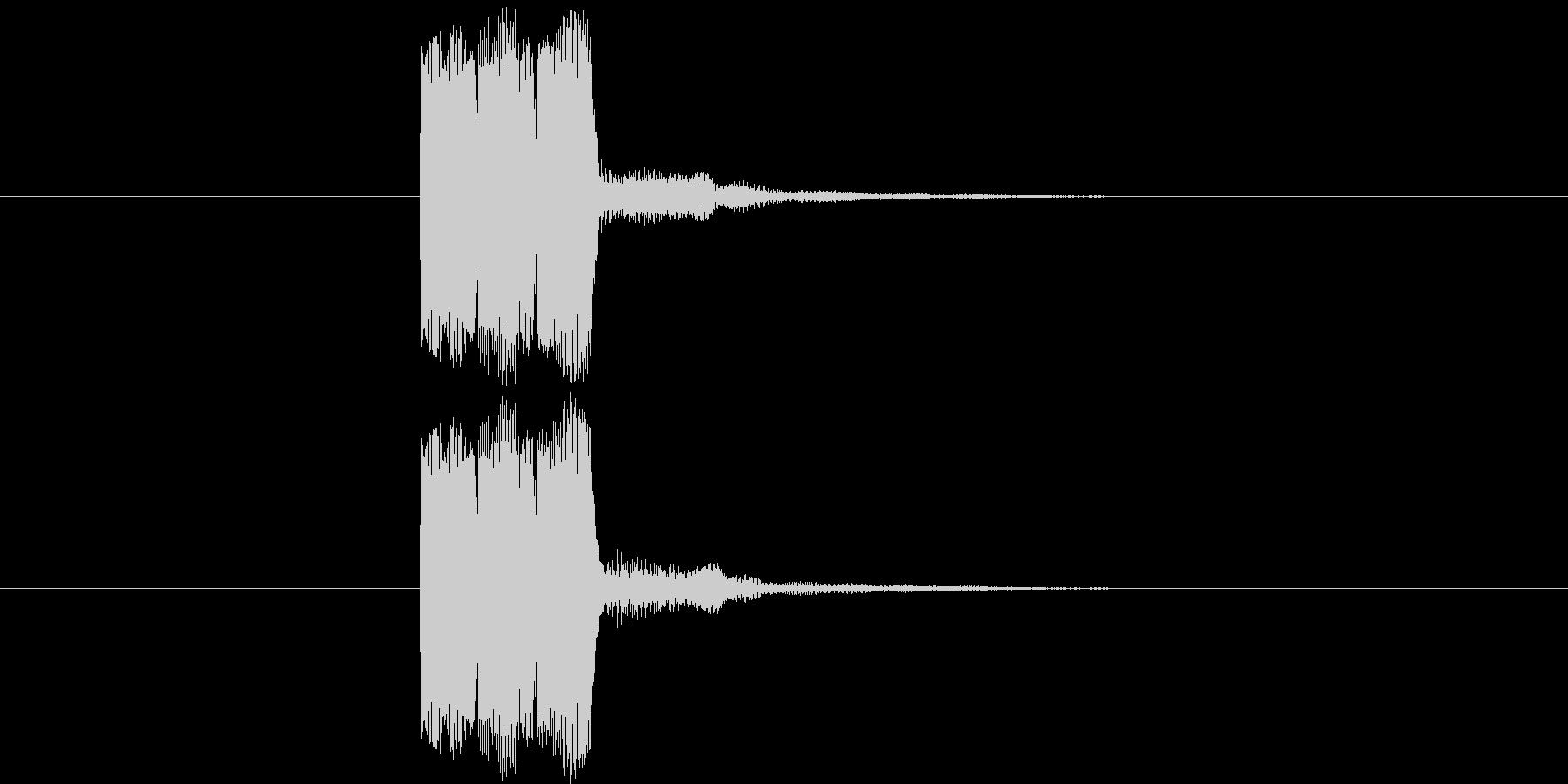 ゲーム等の操作決定音に使える音02の未再生の波形