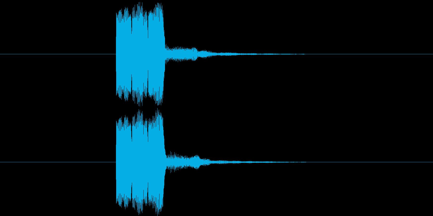 ゲーム等の操作決定音に使える音02の再生済みの波形