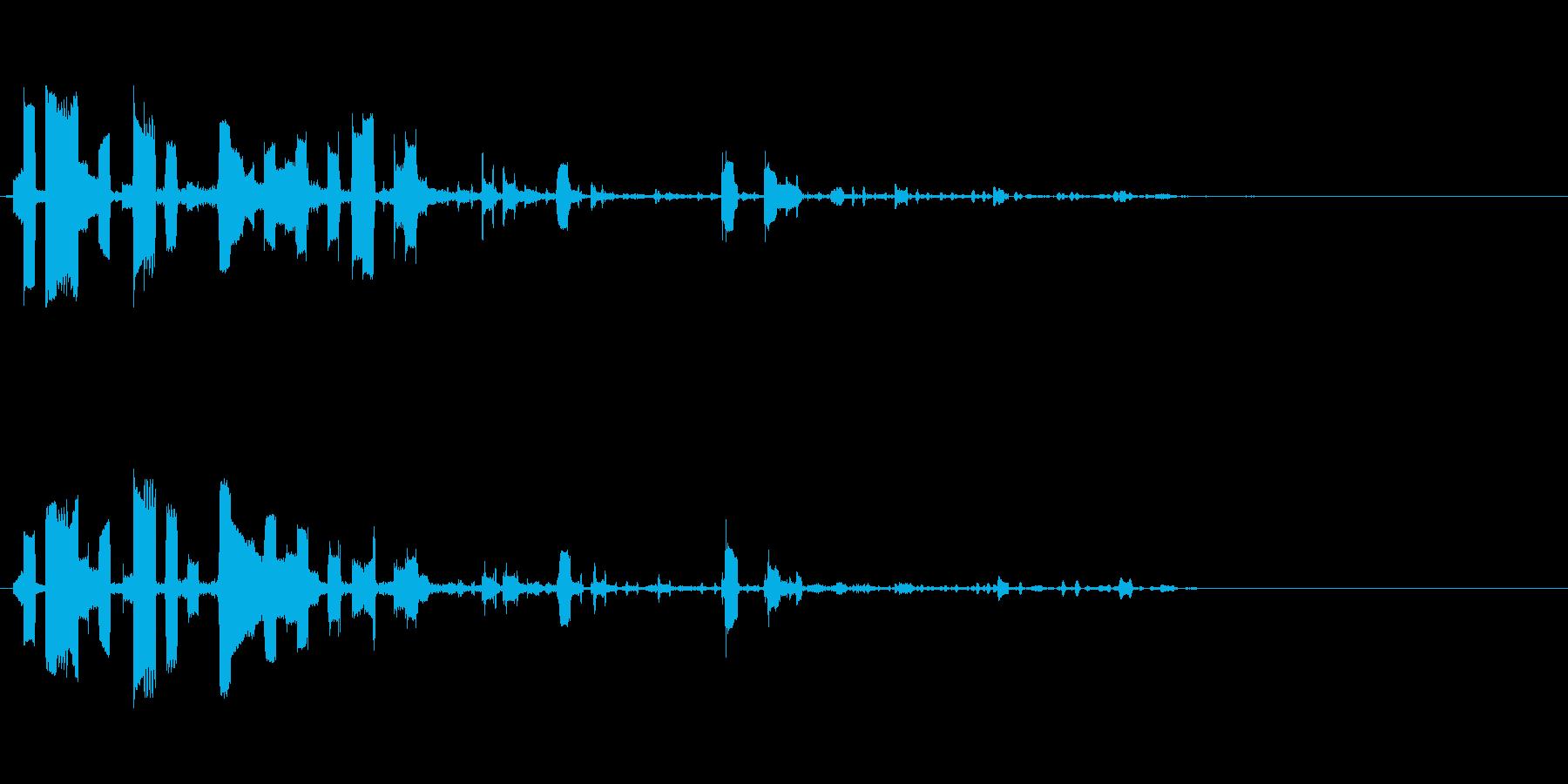 ピポパポの再生済みの波形