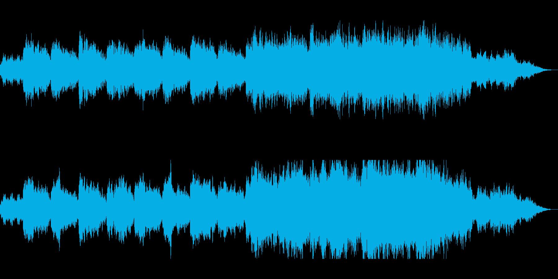 ゆったり不思議なビオラのヒーリングの曲の再生済みの波形