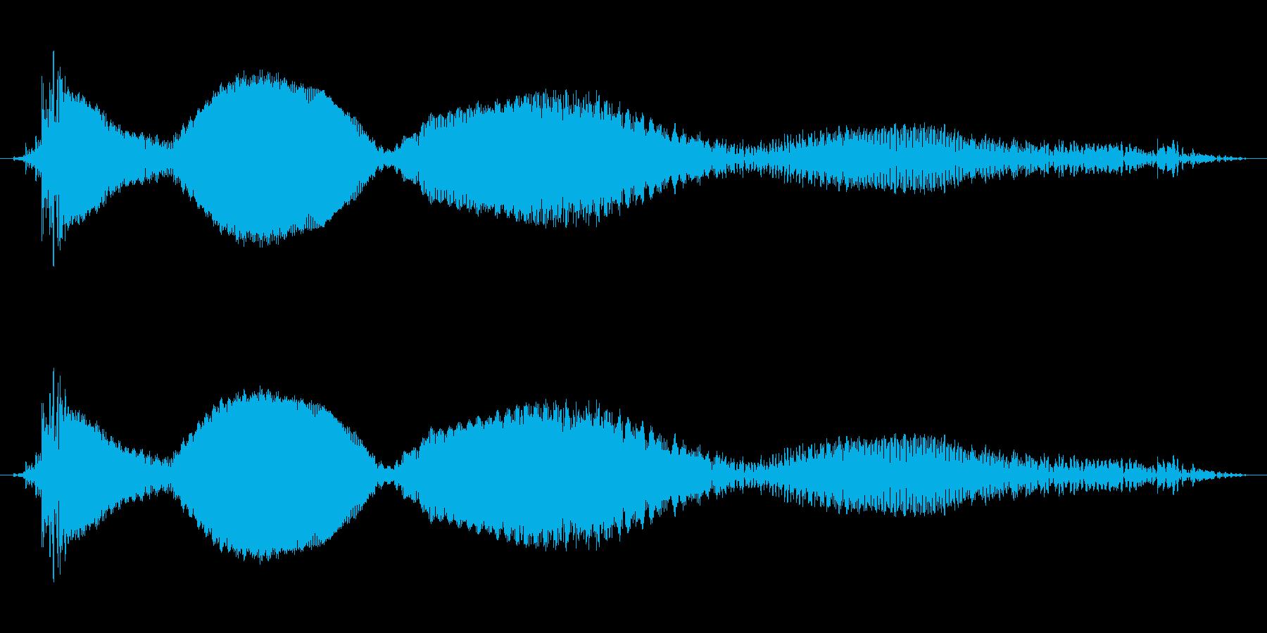 落下音_重めの再生済みの波形