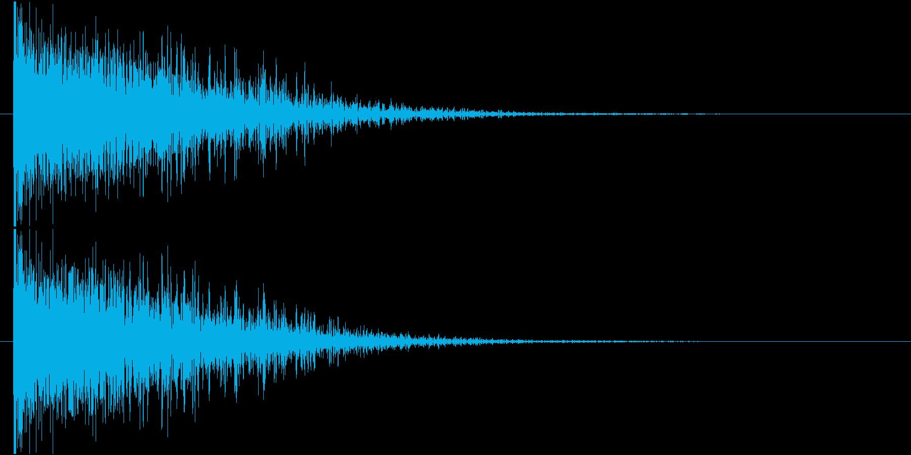 ドォーン 鈍い 衝撃音 爆発音の再生済みの波形