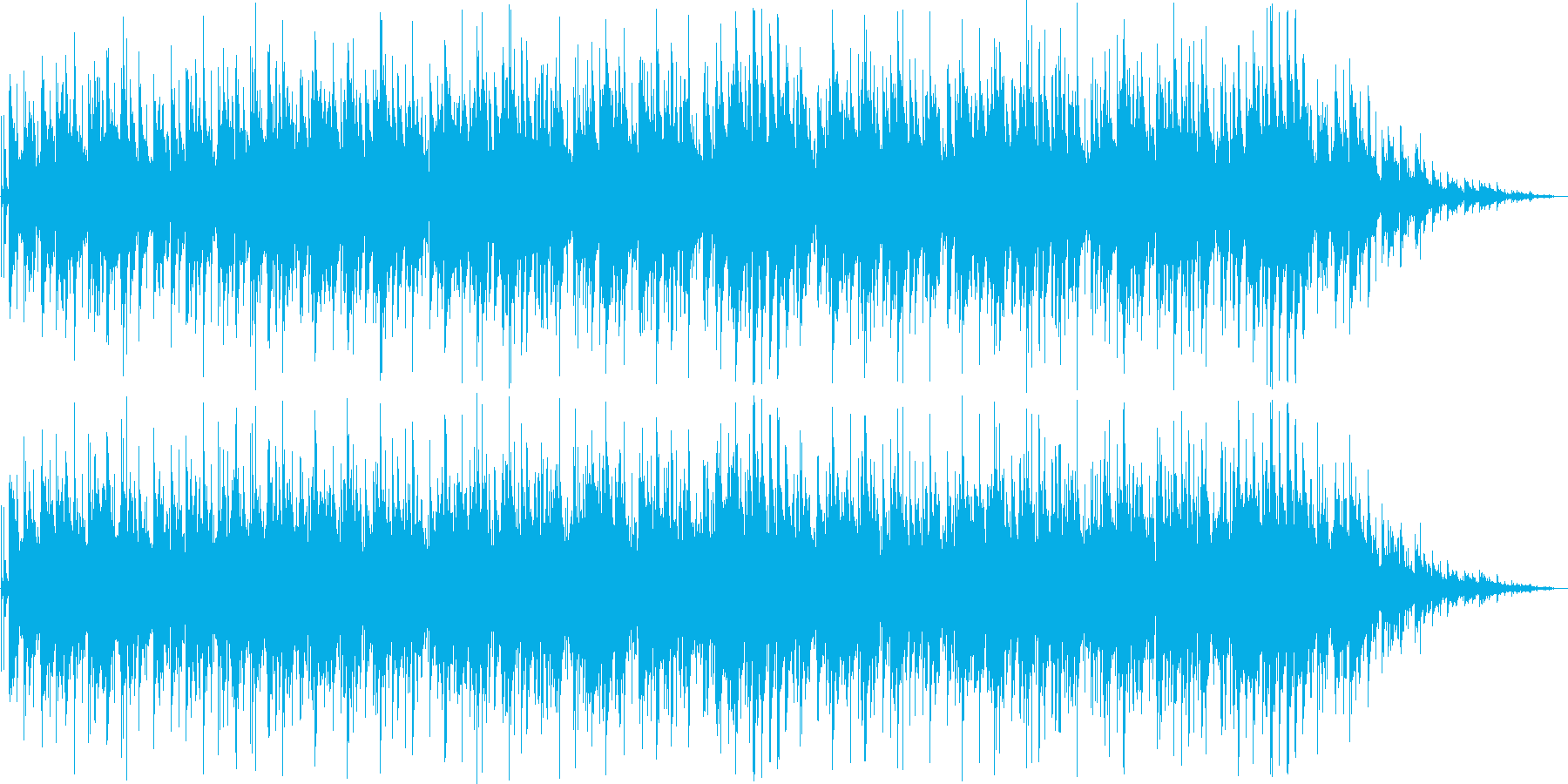 ゆったりしたピアノ・シンセサイザー曲の再生済みの波形