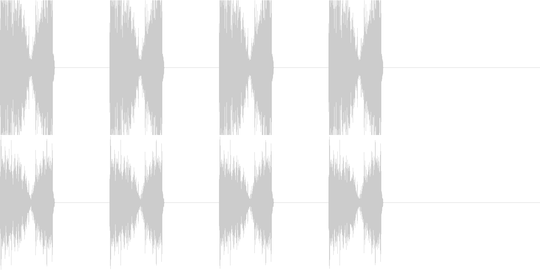 チュクチュクの未再生の波形