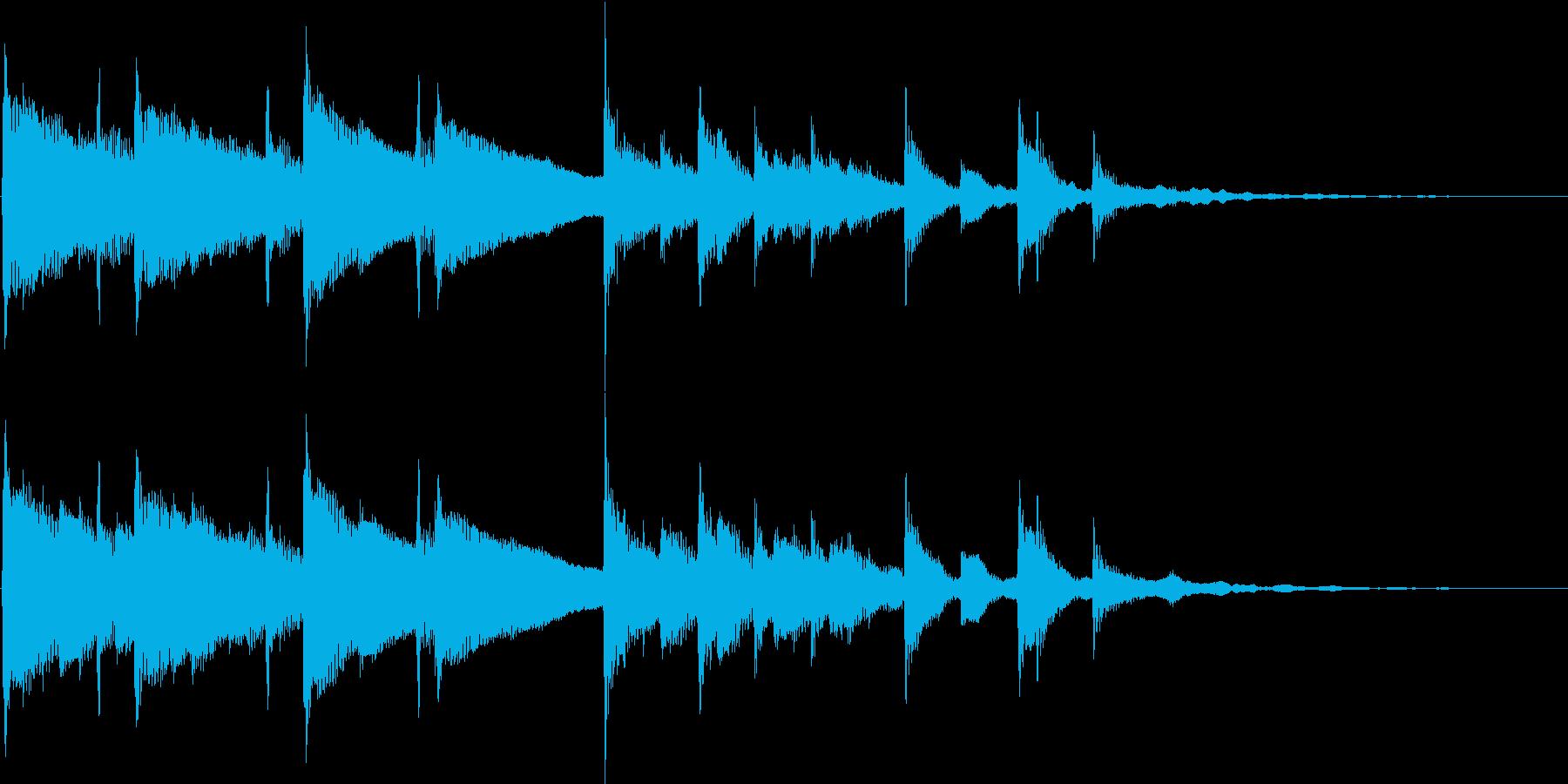 静かな雰囲気のピアノアンビエントの再生済みの波形