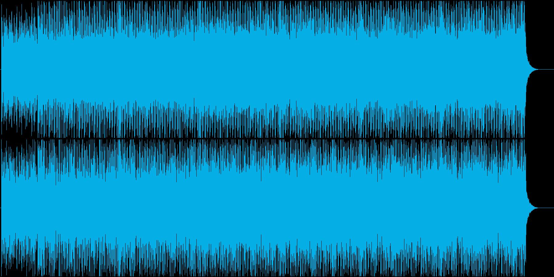 ポップスよりなギターのハウスの再生済みの波形