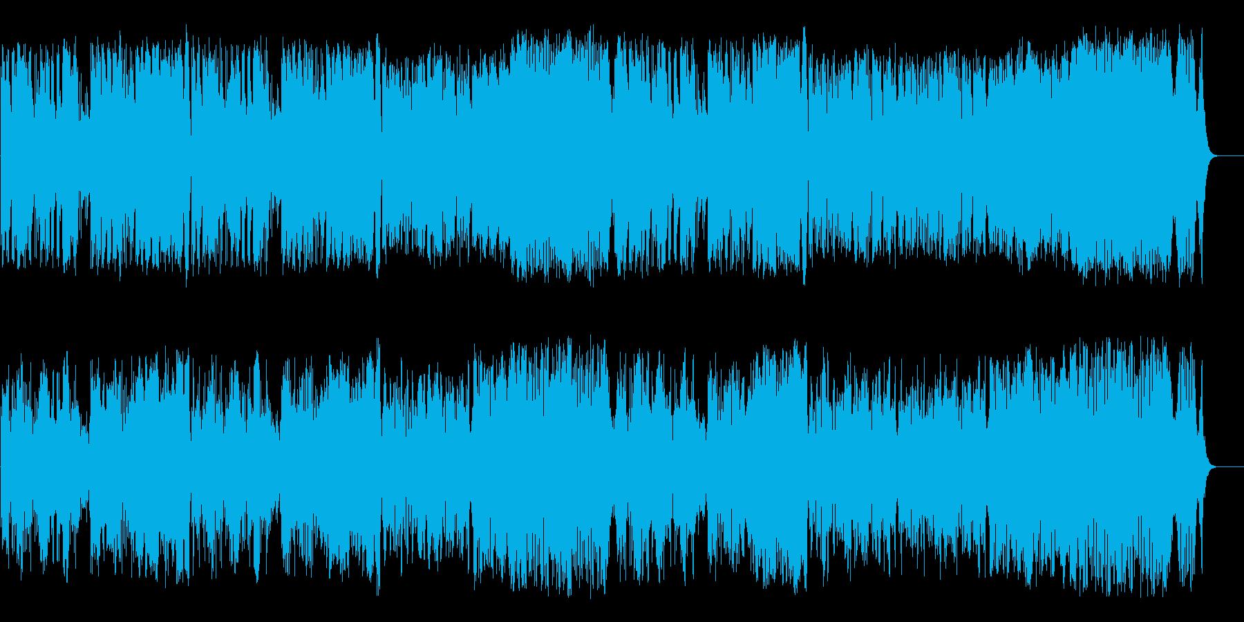 華やかな中世貴族の気品高いクラシックの再生済みの波形