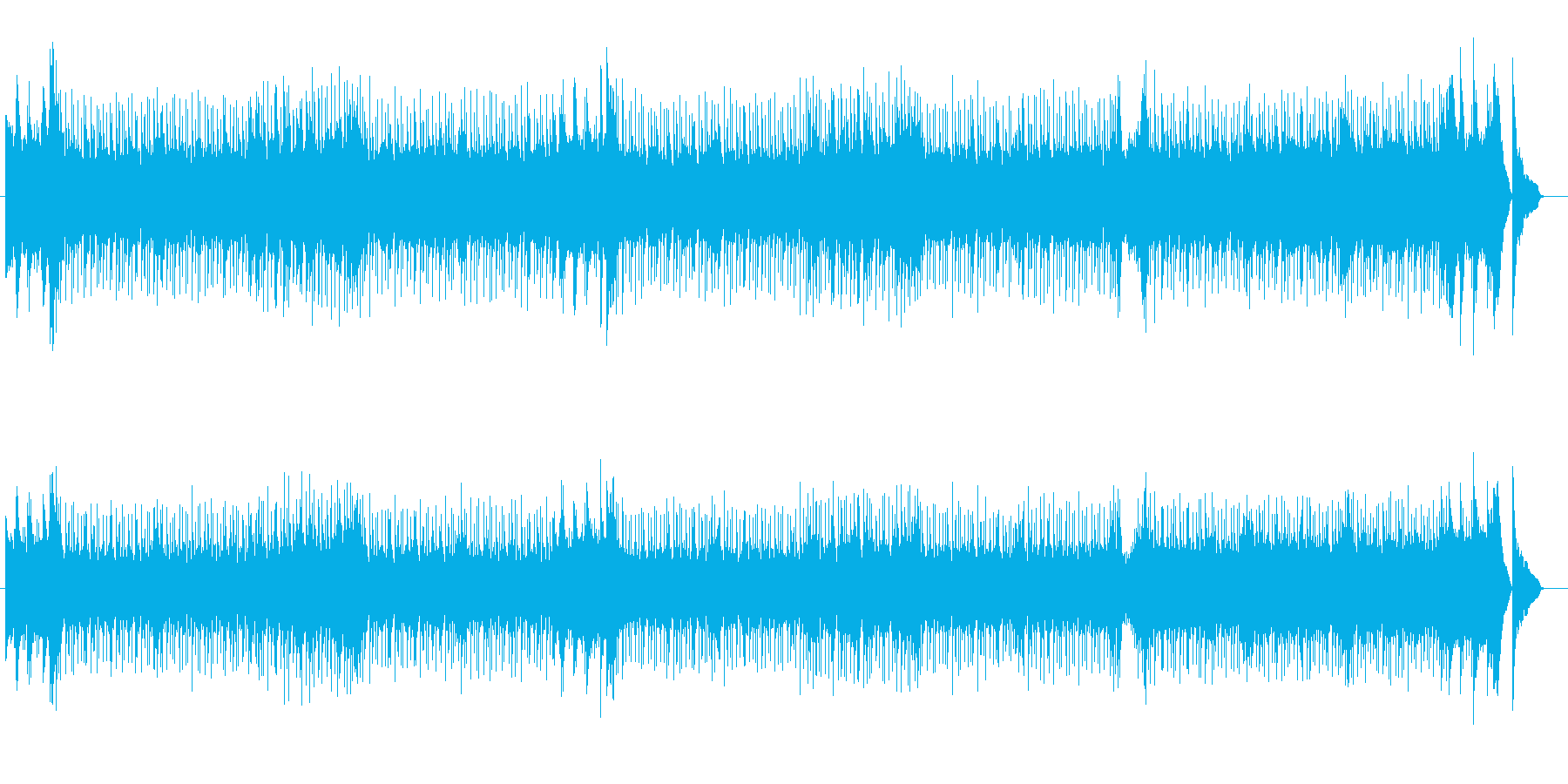 エンディング・テーマ向けフュージョンの再生済みの波形