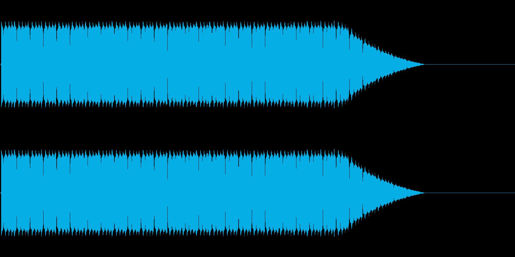 緊急事態に流れるサイレン音の再生済みの波形