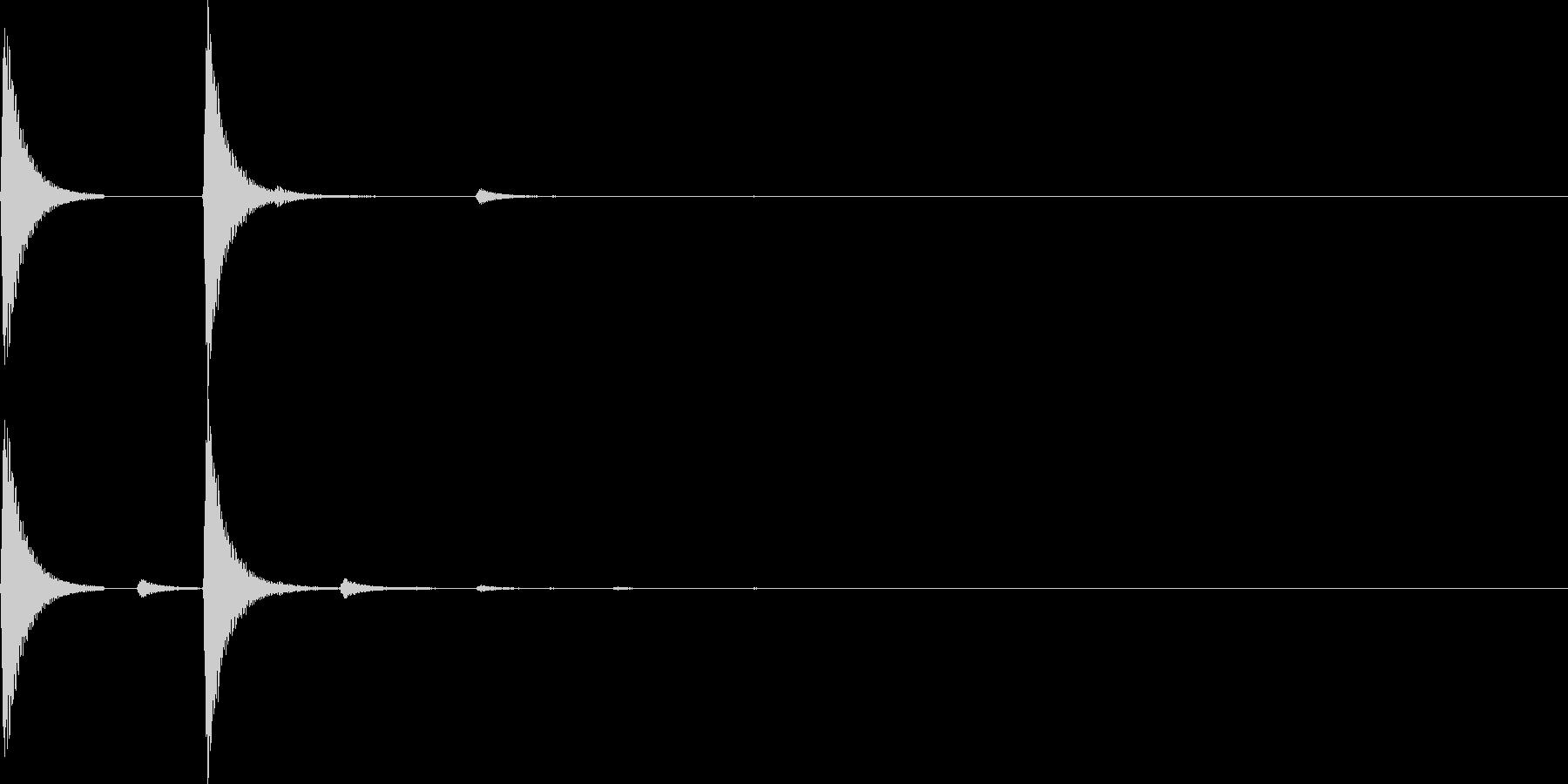 【SE】決定音06(カカッ)の未再生の波形