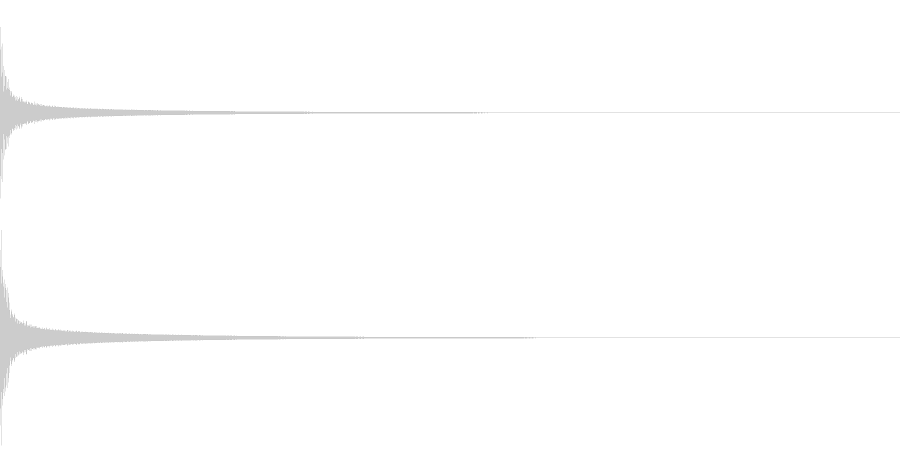 カン(アゴゴベルの音)の未再生の波形