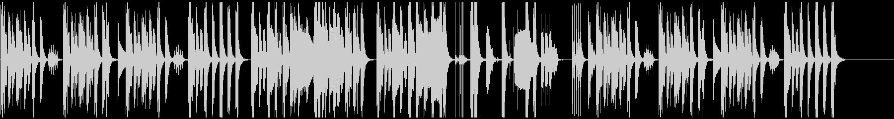 木管楽器と打楽器の日常系コミカル曲の未再生の波形