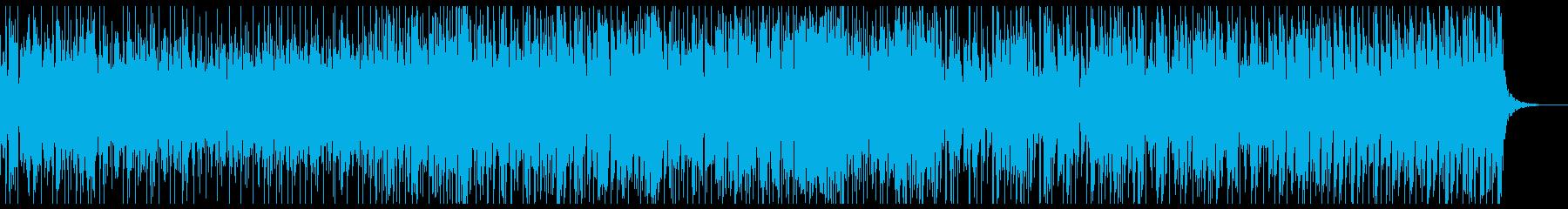 ダークなテクノ・ミュージックの再生済みの波形