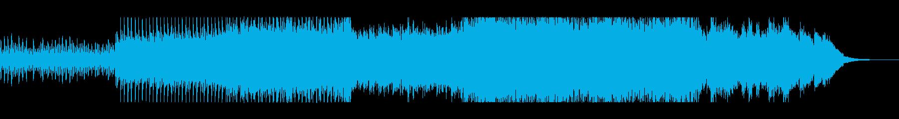 壮大で豪華なシンセ打楽器サウンドの再生済みの波形