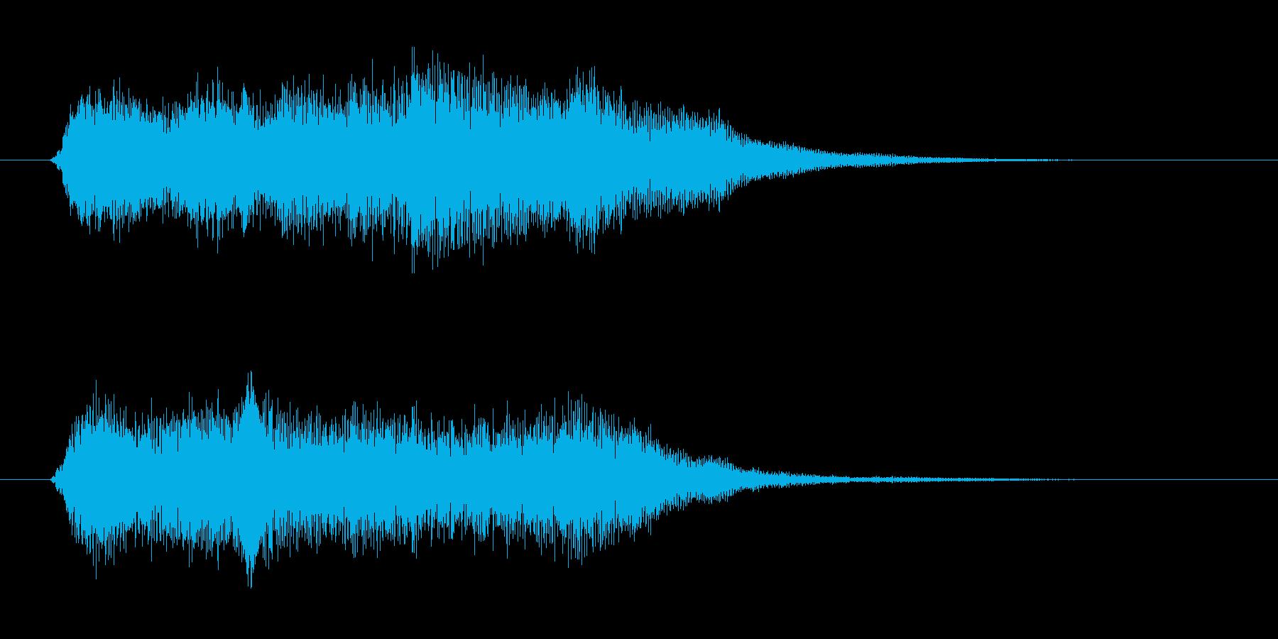 少しシリアスなストリングスのジングルの再生済みの波形