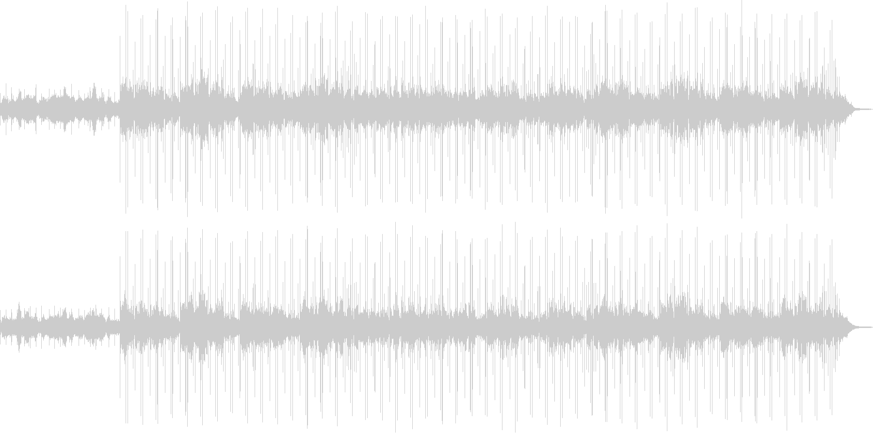 ボサノヴァ調 スローな曲 の未再生の波形