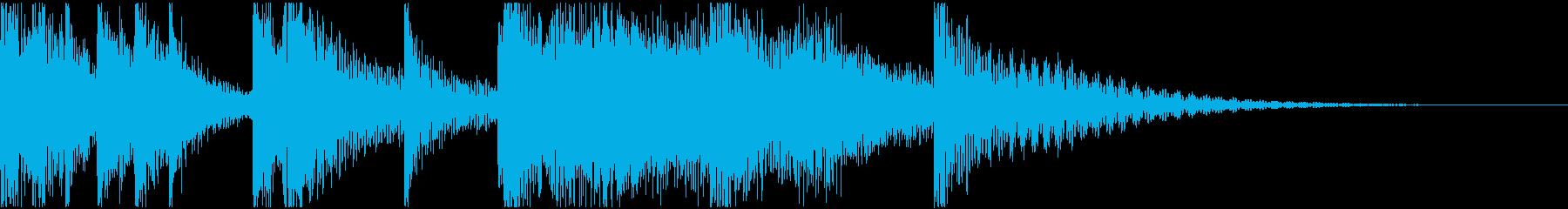 ミニゲームなどで正解したり成功した時の音の再生済みの波形