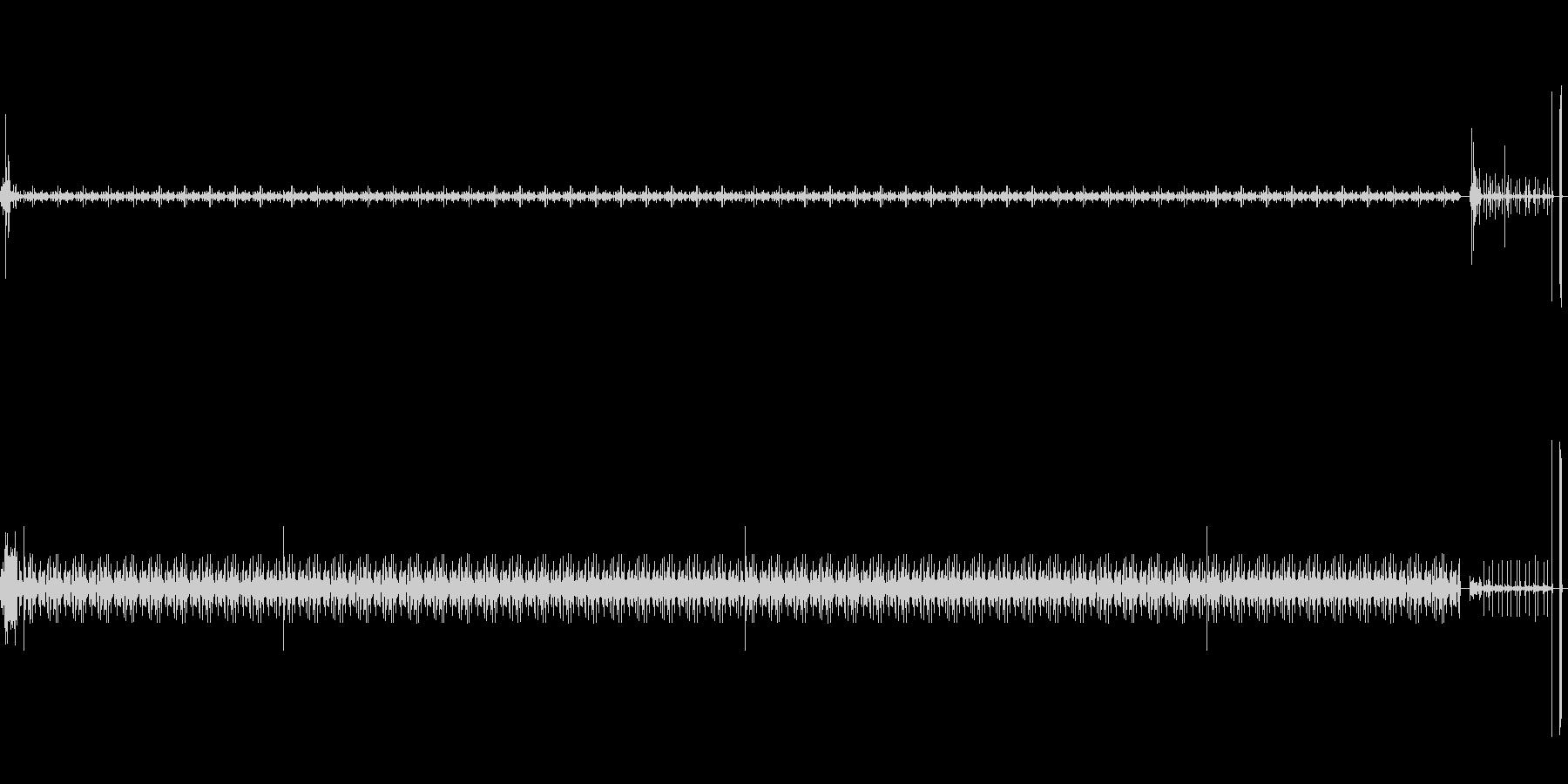 針落、回る、エンドレス、針上げ、引っ掻きの未再生の波形