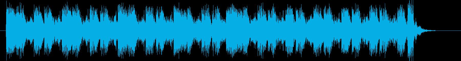 壮大で迫力あるシンセビートジングルの再生済みの波形