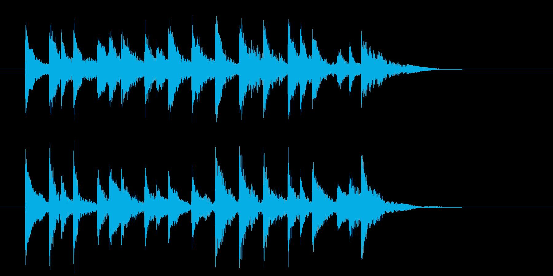 ゆったり軽やかな和風弦楽器サウンドの再生済みの波形