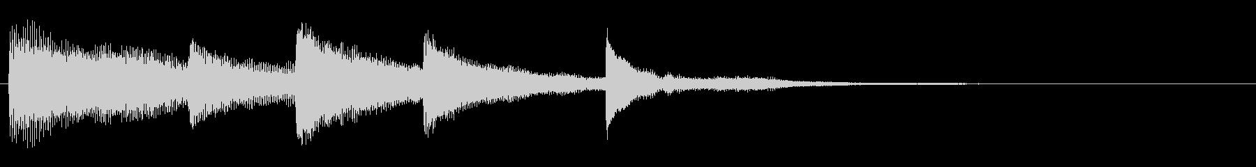 ピアノアルペジオのんの未再生の波形