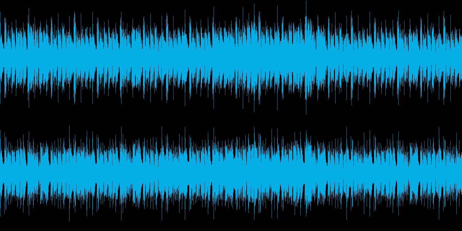軽快でおしゃれなループBGMの再生済みの波形