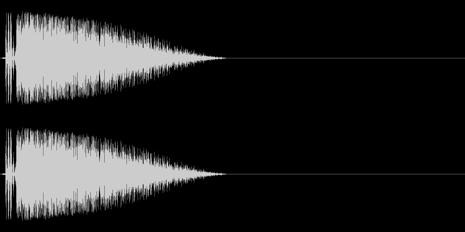 バキューン(銃声や拳銃の発砲音)の未再生の波形