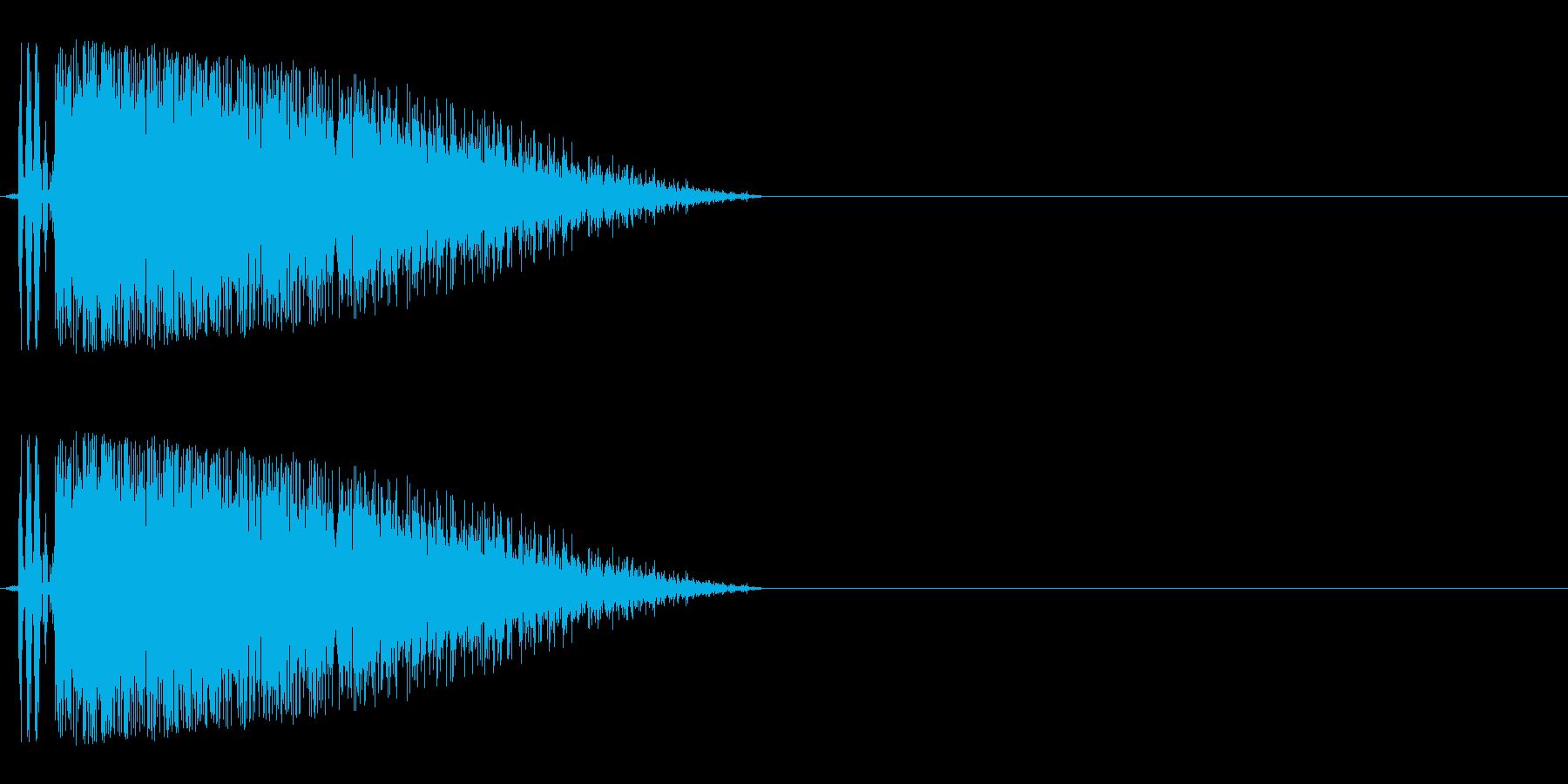 バキューン(銃声や拳銃の発砲音)の再生済みの波形