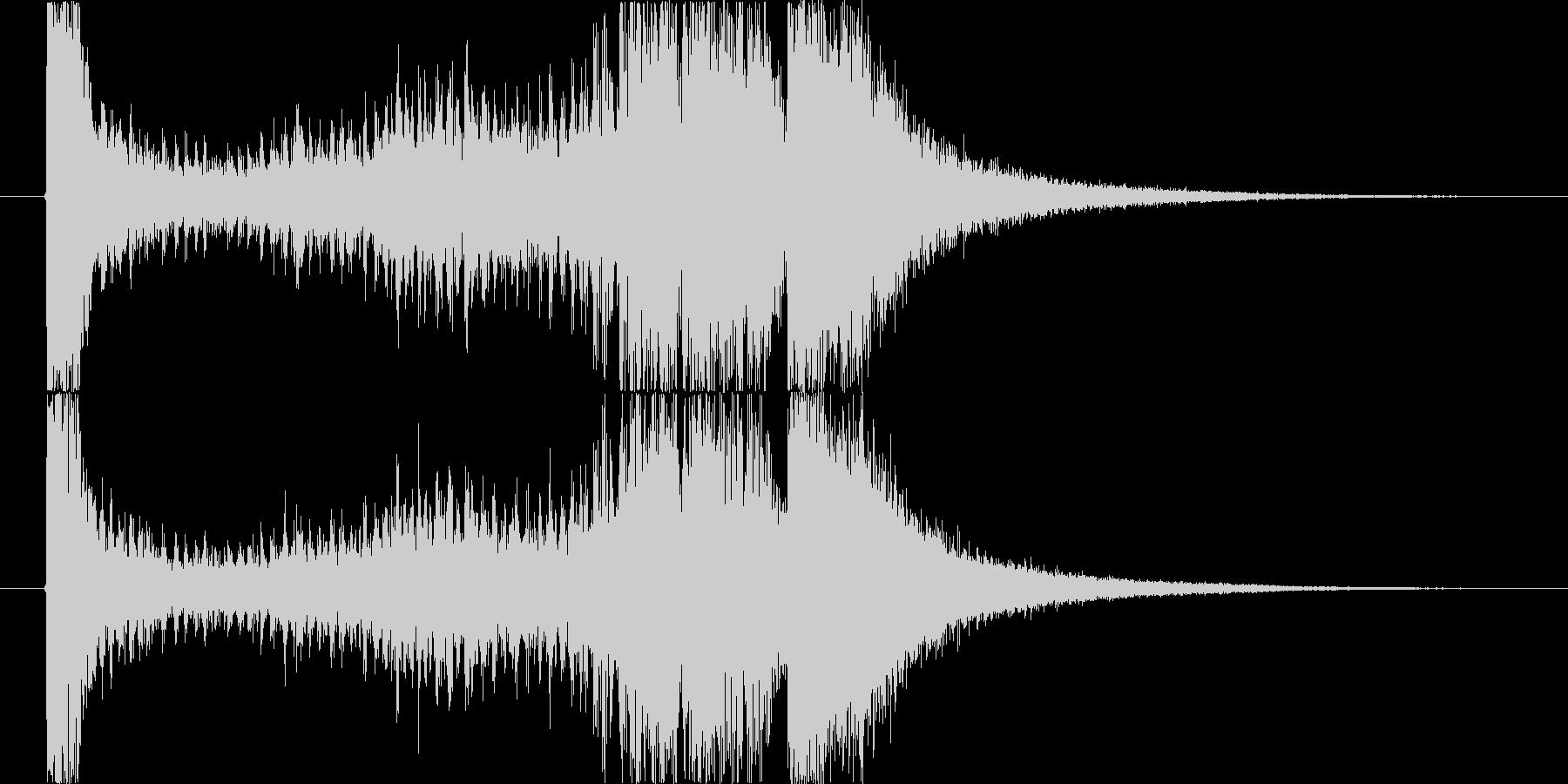 定番の発表シーンの未再生の波形