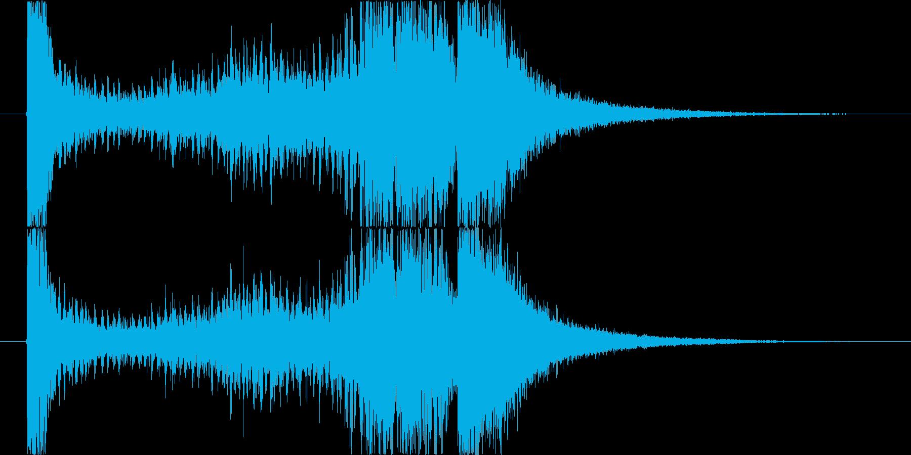 定番の発表シーンの再生済みの波形