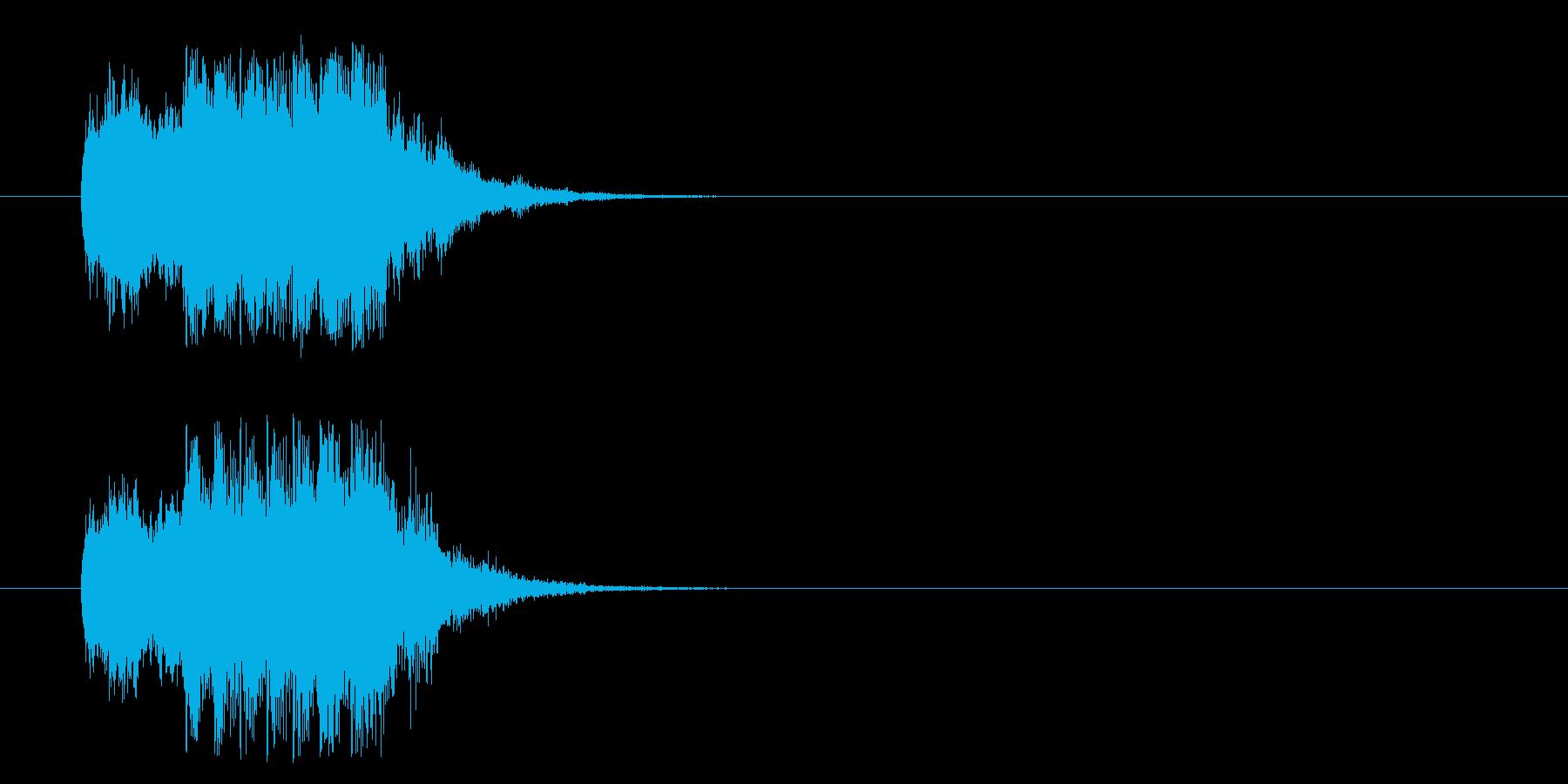 ミステリー風ジングルの再生済みの波形